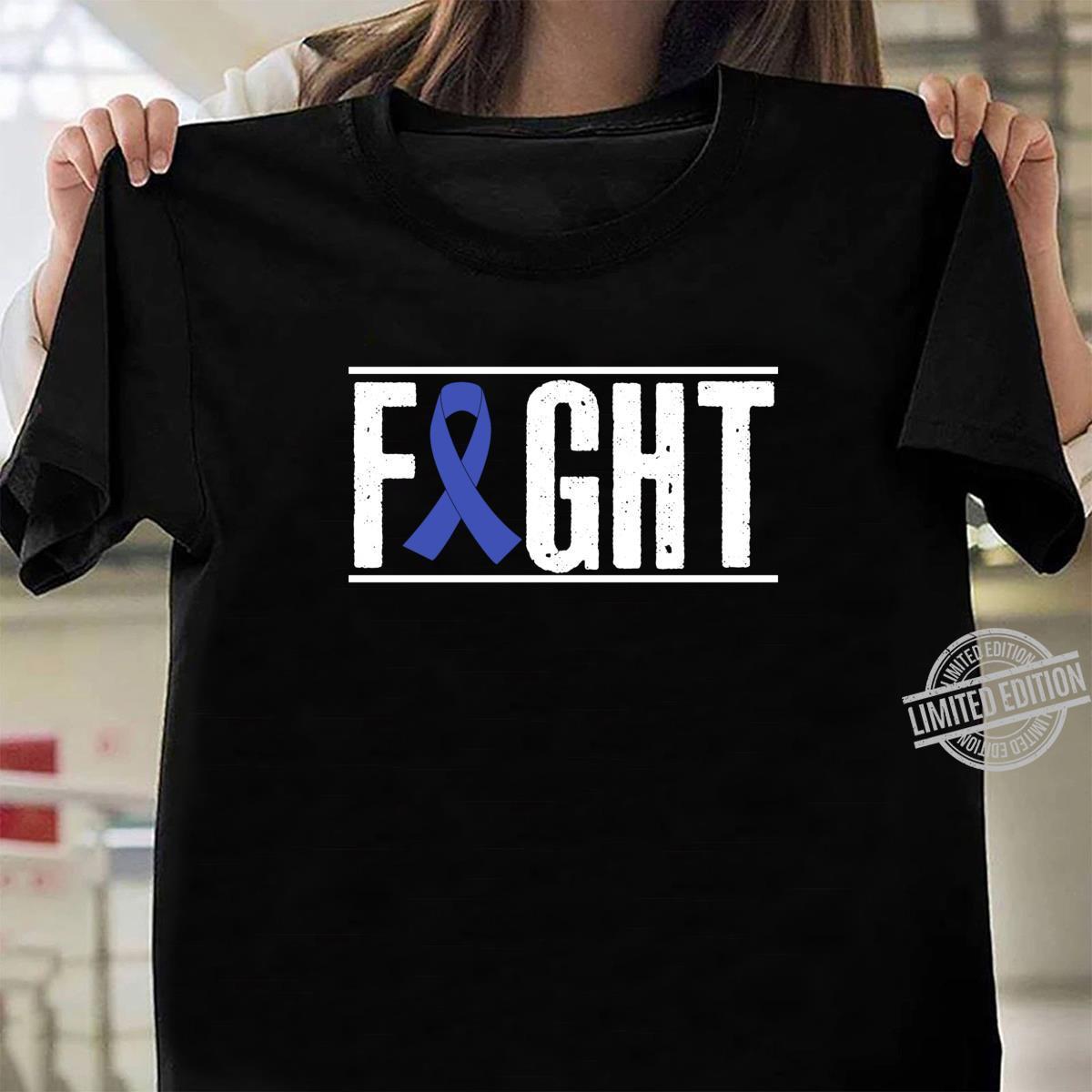 Colon Cancer Awareness Fight Cancer Ribbon Shirt